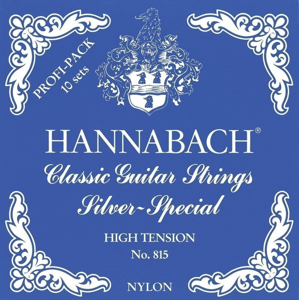 set di corde basse 10x E6//Mi6 A5//La5 e 13x D4//Re4 Hannabach Corde per chitarra classica Serie 815 Light Tension Silver Special