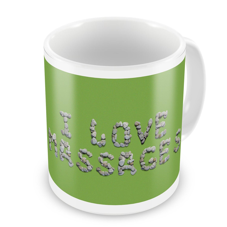 Coffee Mug I Love Massages Spa Stones Rocks - NEONBLOND