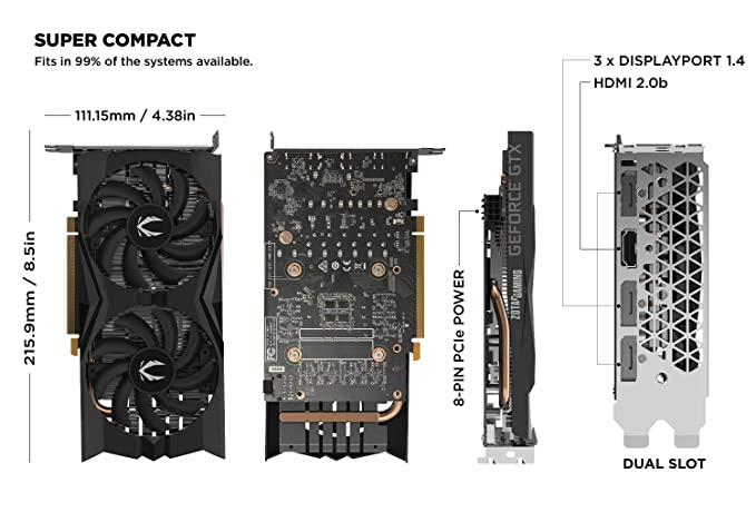 Amazon.com: ZOTAC Gaming GeForce GTX 1660 - Tarjeta gráfica ...