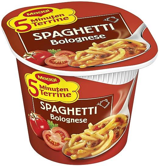 Maggi 5 minutos de sopera espaguetis boloñesa (Pack de 8, 8 x 62 g