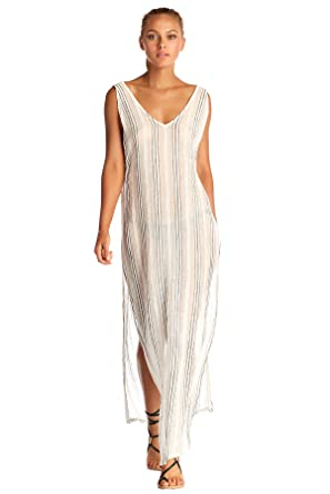 243a48ea2d8e8 Vitamin A Women's Ren Stripe Tradewinds Maxi Dress Swim Cover Up at Amazon  Women's Clothing store: