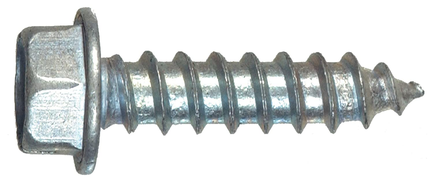The Hillman Group The Hillman Group 1033 Zinc Hex Washer Head Slotted Sheet Metal Screw 10 x 3//4 In 30-Pack