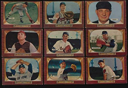 Amazoncom Sports Memorabilia 1955 Bowman Baseball Vgvgex Lot Of