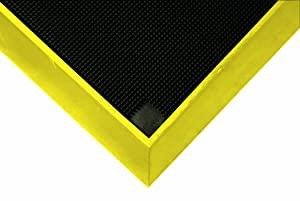 Wearwell Natural Rubber 222 Anti-Fatigue Sanitizing Footbath Mat, for Food Processing Facilities, 32