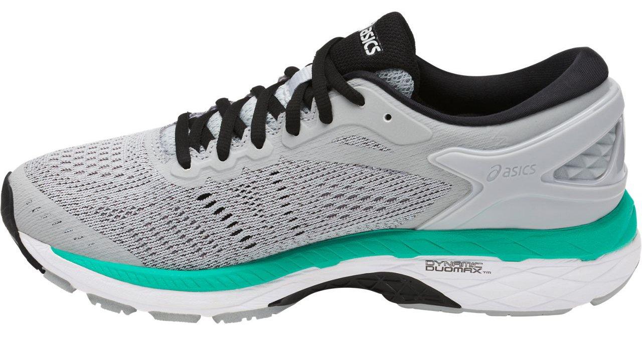 ASICS Women's Gel-Kayano 24 Running Shoe, Mid Grey/Black/Atlantis, 9 Medium US by ASICS (Image #1)