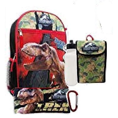 Jurassic World Boys 5 Pc Backpack Set, Black, One Size | Kids' Backpacks