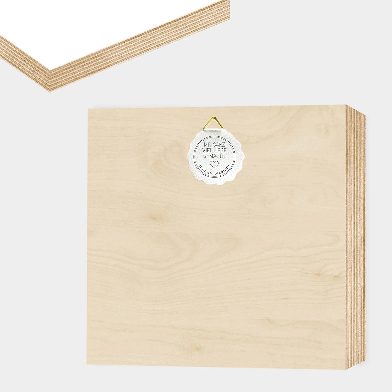 love - Holzbild 15x15x2 zum Hinstellen/Aufhängen, Spruch - schwarz-weißes Holz-Schild Bild Poster Aufsteller zur Deko im Büro/Wohnung/als Geschenk Mitbringsel zum Geburtstag Hochzeit