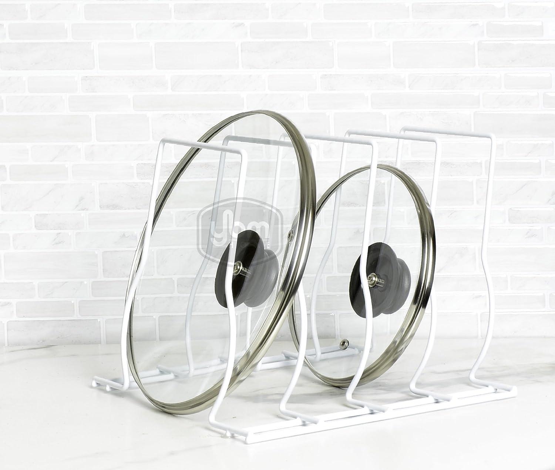 Ybmhome Kitchen Bakeware Pot Lid Rack Holder Organizer (White) 2212 (1)