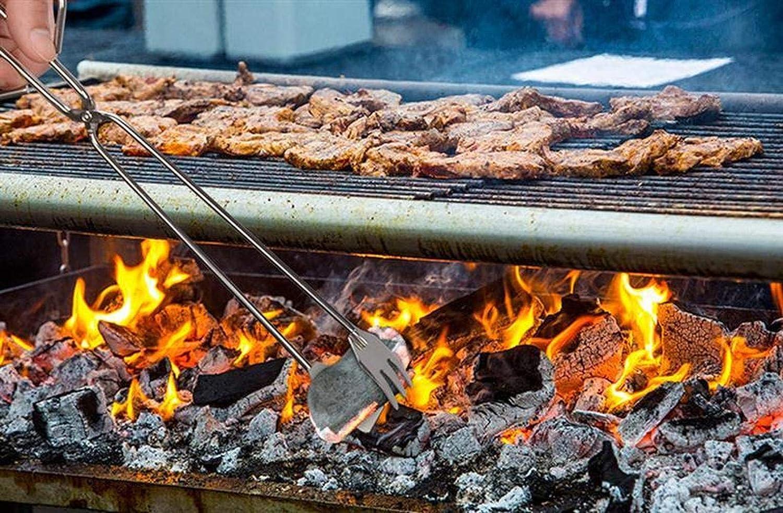 Set di Attrezzi per Barbecue 3PCS, Clip per Carboncino per Barbecue, Forca per Barbecue con Artiglio D'orso, Soffiatore Manuale, Tagliapasta (3pcs) 3pcs