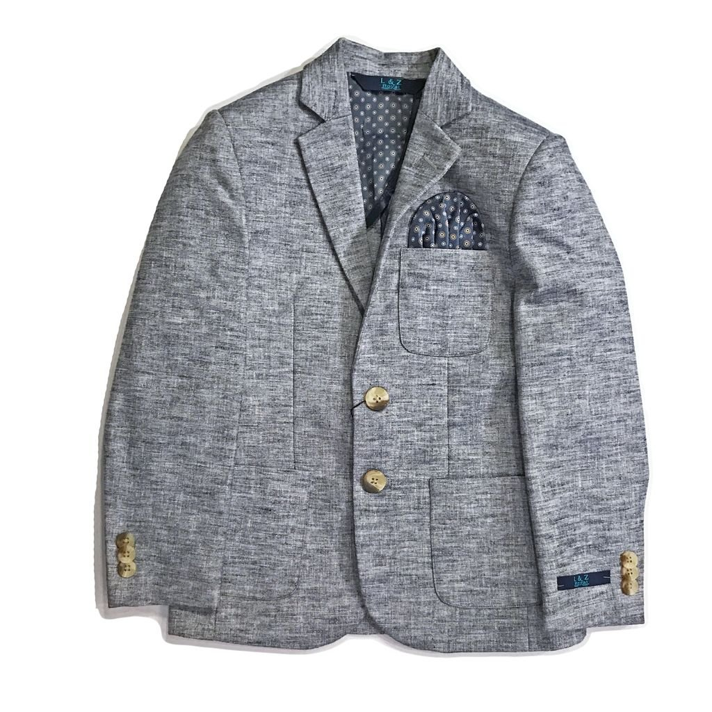 Leo & Zachary Boys Blazer in Chambray Blue