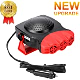 BOBOO Car Heater,Portable Car Heater Plugs into Cigarette Lighter,12V 150W 3-Outlet 2 in 1 Heating/Cooling Car Heater for Windshield Fast Heating Defroster Defogger.