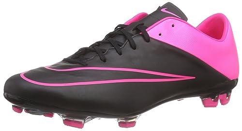 adfe594e40083 Nike Mercurial Veloce II LTHR FG Mens Soccer-Shoes Size 7.5 - Black Hyper