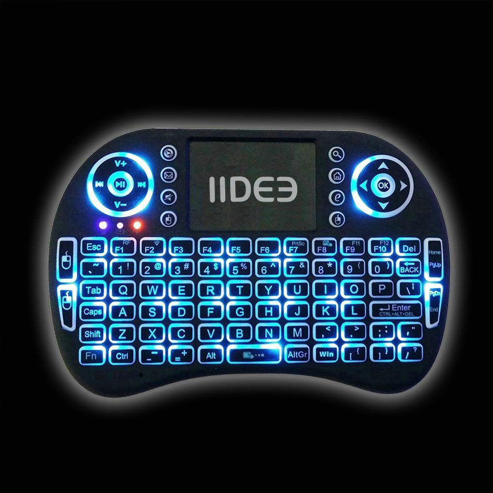 Rii i8 (10038-ID) Mini 2.4GHz Wireless Touchpad Keyboard with Mouse, Black by Rii (Image #2)