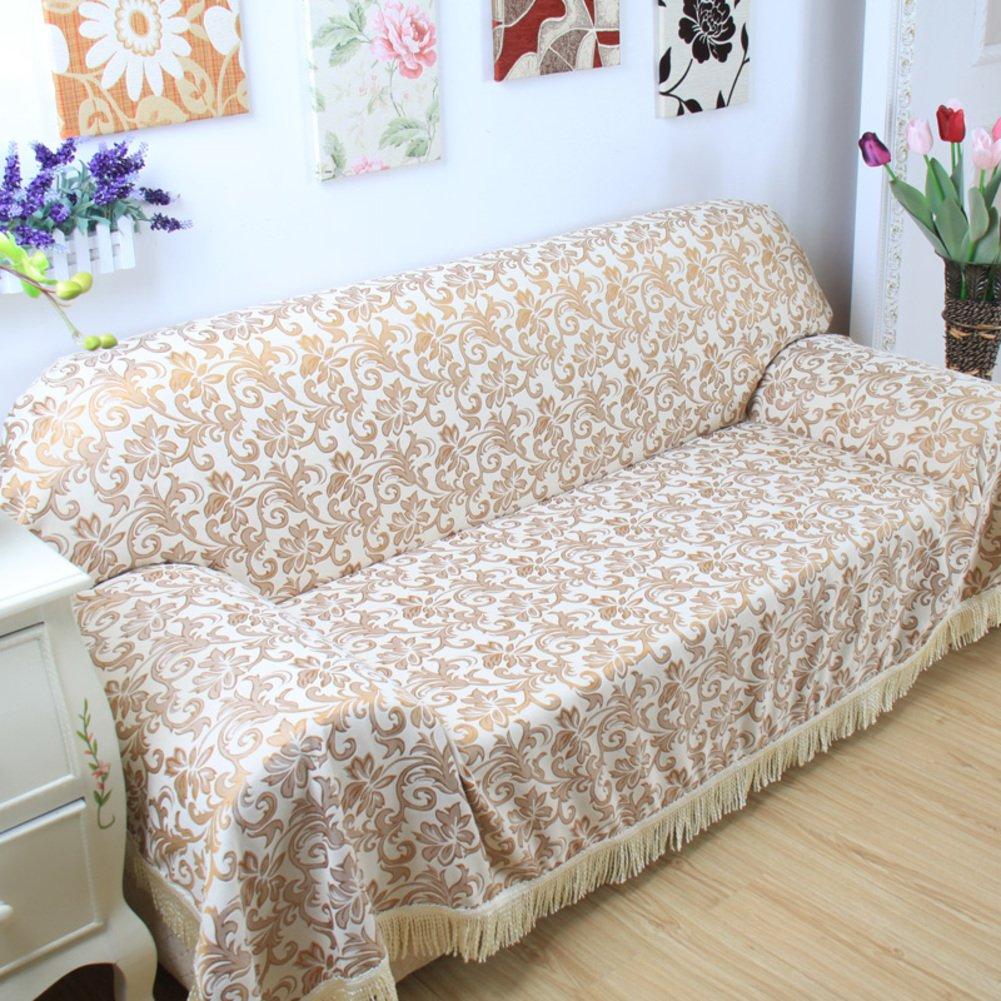 Anti-slip Wear-resistant Sofa slipcover,European style sofa cover full cover sofa towel anti-slip thick cloth all-inclusive sofa cover cloth For 1 2 3 4 cushions sofas-grey-B 180x240cm(71x94inch)