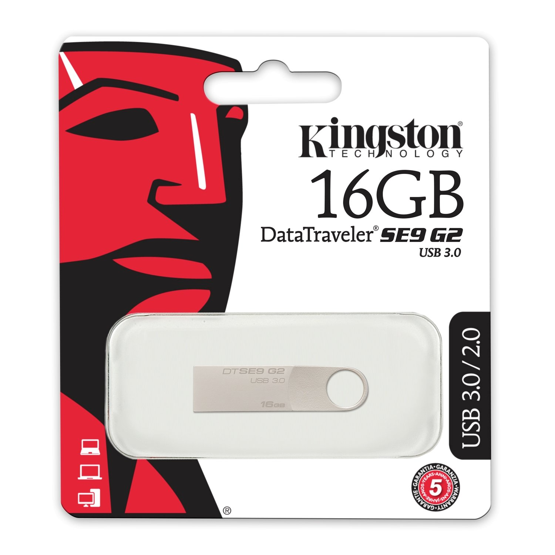 Kingston Digital 16 Gb Datatraveler Se9 G2 Usb 30 Flash 0 Flashdisk 16gb Drive Dtse9g2 Computers Accessories