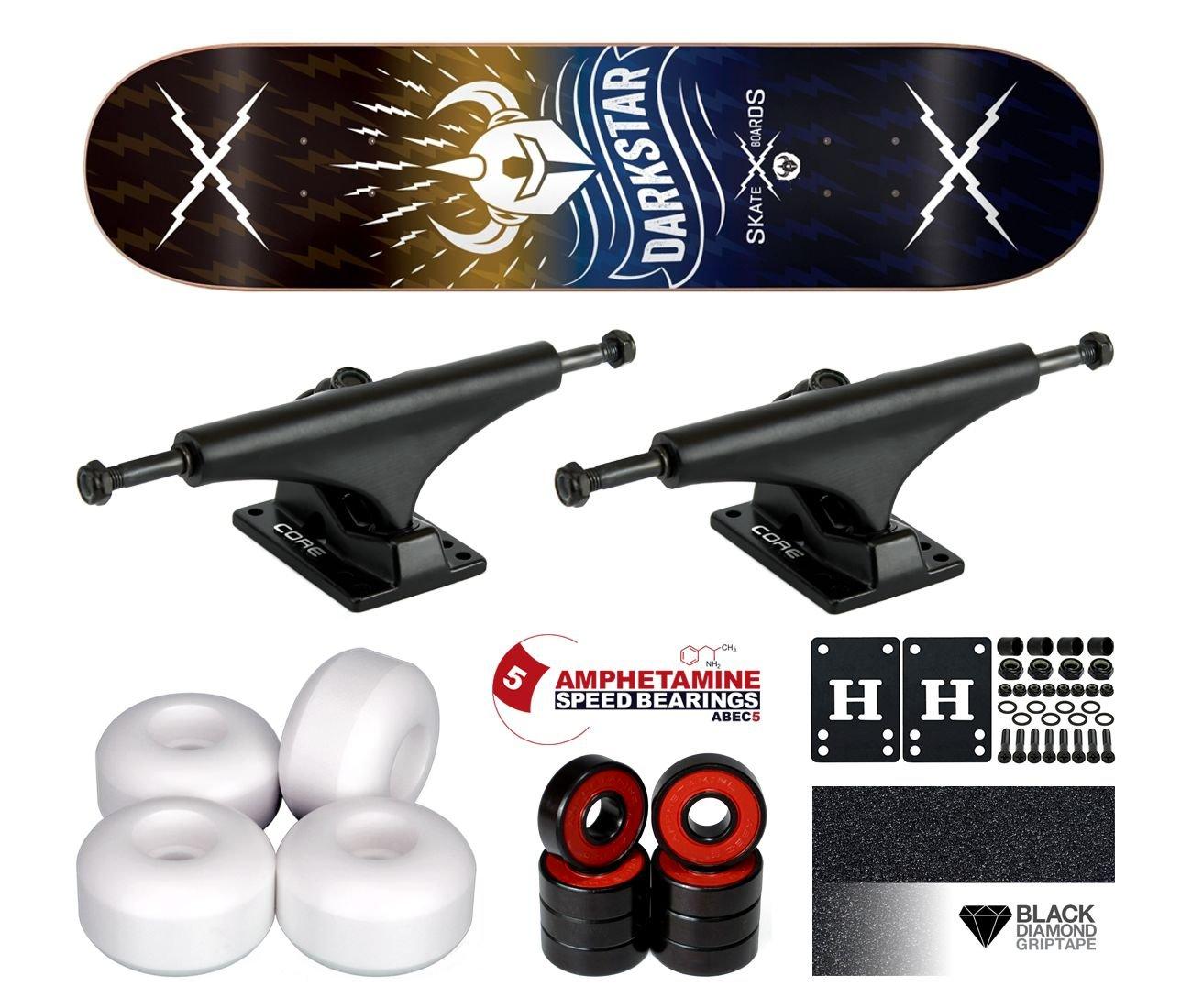 barato y de moda Dark Dark Dark Star Team Axis Yellow Blue PP Komplett Skateboard 8.125  respuestas rápidas
