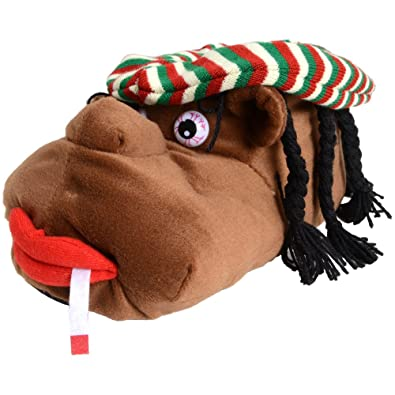 5e5d5eb78600 Mens Cosy Rasta Man Character Plush Novelty Slippers - Size UK 10  Amazon.co .uk  Shoes   Bags