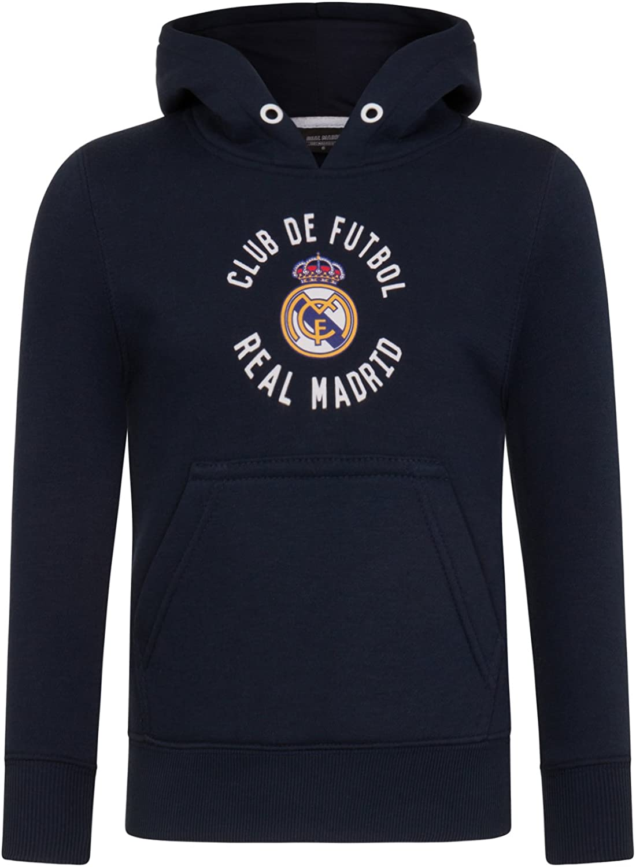 Real Madrid - Sudadera oficial con capucha - Para niño - Con el ...