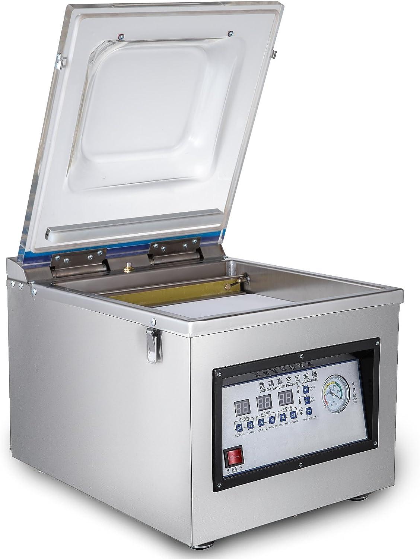 Mophorn DZ-260C Máquina de Sellado al Vacío 300W Selladora al Vacío 320MM / 12.6INCH Selladora de Vacío Profesional Acero Inoxidable Selladora de Vacío para Uso Doméstico y Comercial