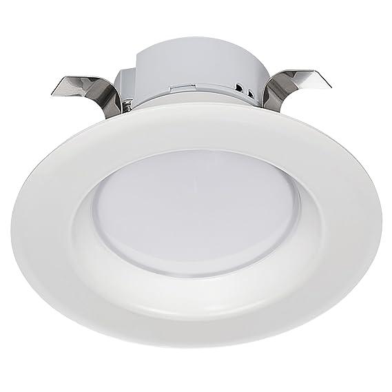 Light BlueTM (4-PACK) 3-Inch LED Downlight Retrofit, GU10 Base, 8-Watt (50W) Soft White 3000K, LED Retrofit Recessed Lighting Fixture, 560 Lumens, Dimmable, ...