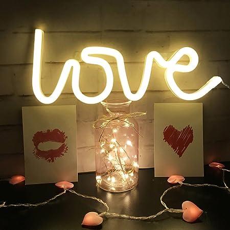 Amazon.com: QiaoFei Luz de neón, LED con forma de cartel de ...