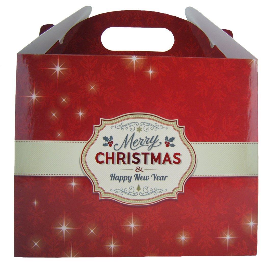 Feliz Navidad Gables Cajas Bolsas de Fiesta Jaffa Imports Ltd 10 x Cajas de Regalo Cajas de Fiesta