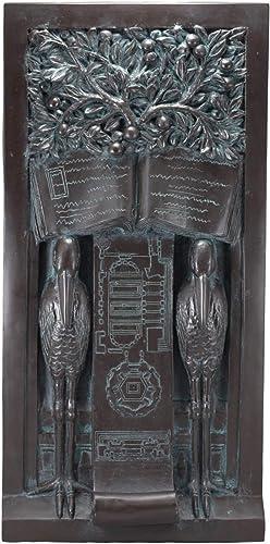 Ebros Frank Lloyd Wright Oak Park Studio Loggia Columns Tree of Life Sentry Stork Wall Panel Plaque 24″ Tall