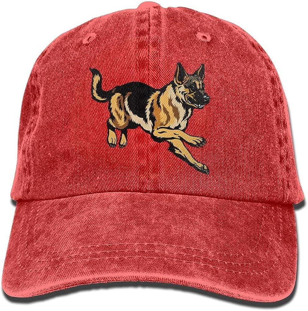 Sajfirlug Doberman Pinscher Fashion Adjustable Cowboy Cap Denim Hat for Women and Men