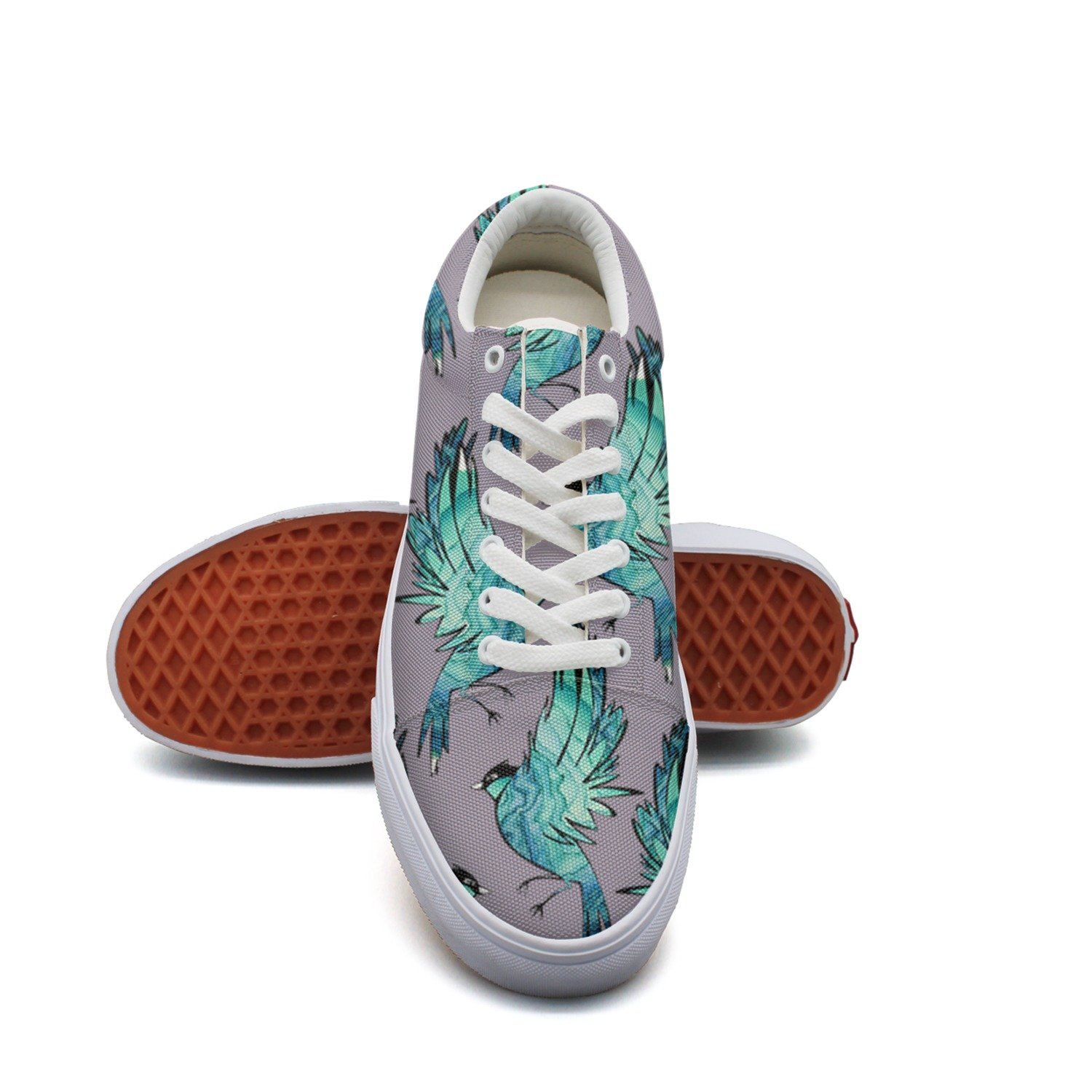 hjkggd fgfds Casual Watercolor Attractive Parrot Pattern Attractive Watercolor Women Canvas Sneakers Shoes B07DJ4SMXV Fashion Sneakers e76646