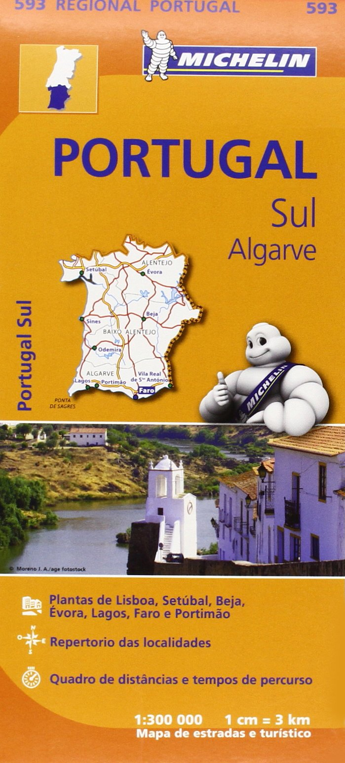 Portugal Sul Algarve Regional Map Michelin Regional Maps - Portugal map michelin