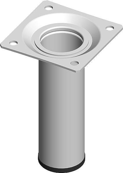Someo Confezione da 4 Piedi cilindrici 20 cm colore: Bianco