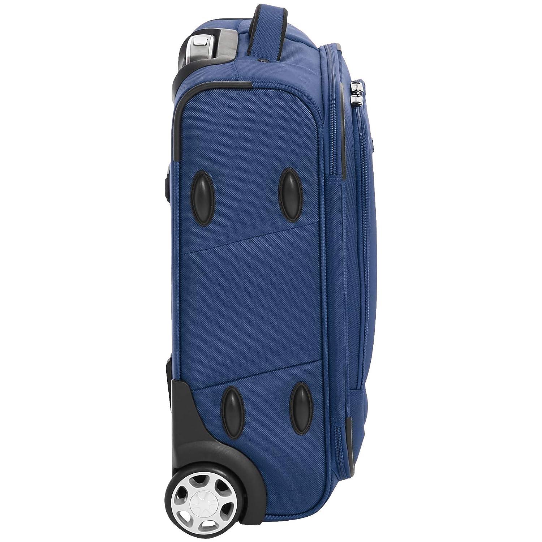 morbido 48 cm Basics con chiusura TSA e rotelle Bagaglio a mano espandibile blu
