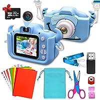 ShengRuHai Cámara de Fotos Digital para Niños,Cámara Digitale Selfie para Niños con Tarjeta de Memoria Micro SD 32GB,HD…