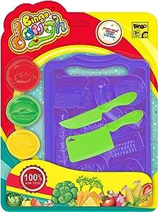 لعبة قوالب تشكيل صلصال على شكل خضراوات وادوات تقطيع من بينجو - أرجواني