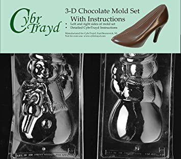 1811600ce80b52 Cybrtrayd C301AB Large Snowman Life of the Party Chocolate Candy Mold  Bundle with 2 Molds and