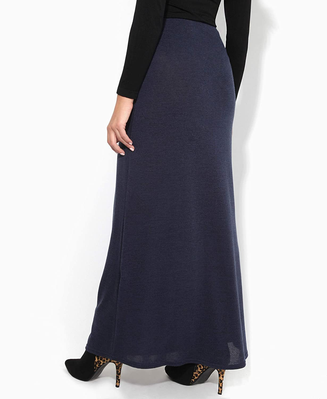 KRISP/® Women Ladies Knitted High Waist Long Bodycon A Line Winter Boho Maxi Skirt Dress