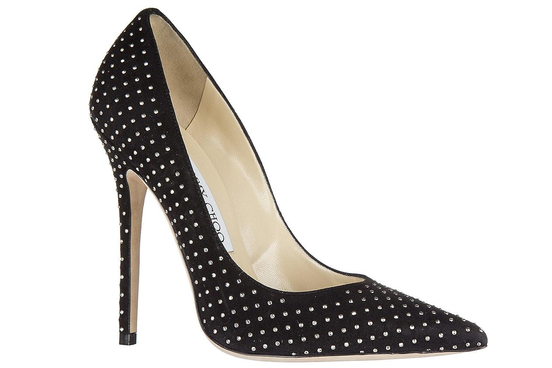 c4120ad6a6f Jimmy Choo women s suede pumps court shoes high heel anouk black UK size 5  134ANOUK  Amazon.co.uk  Shoes   Bags