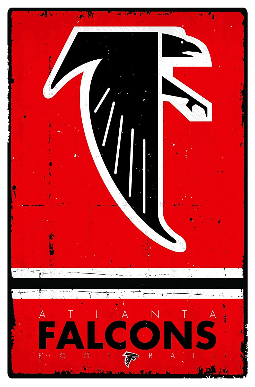 Amazon Trends International Atlanta Falcons Retro Logo Wall