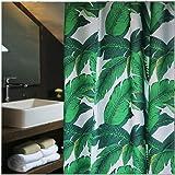 Verdi Foglie di Palma Tropicale Tessuto Tenda da Doccia Stampo Resistente, 72 x 78 Inch