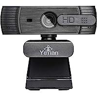 YEYIAN Webcam Widok Series 2000 USB 2.0, Autofocus HD, HDR, microfono Dual con reduccion de Ruido Negro (YAW-041620)