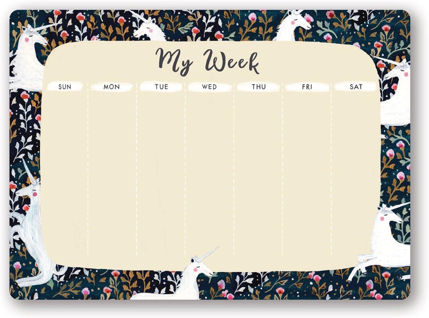 Studio Oh! Undated Weekly Desk Pad Available in 4 Designs, Sonia Cavallini Magical Unicorns