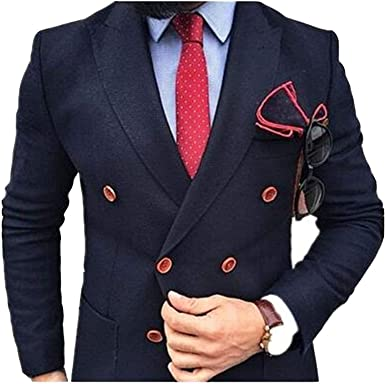DIKN Mens 2-Pieces Formal Suit Modern Fit Groom Tuxedo Jacket /& Pants for Wedding Prom Party