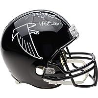"$349 » Deion Sanders Atlanta Falcons Autographed Riddell Throwback Black Full Size Replica Helmet with""HOF 2011"" Inscription - Fanatics Authentic…"