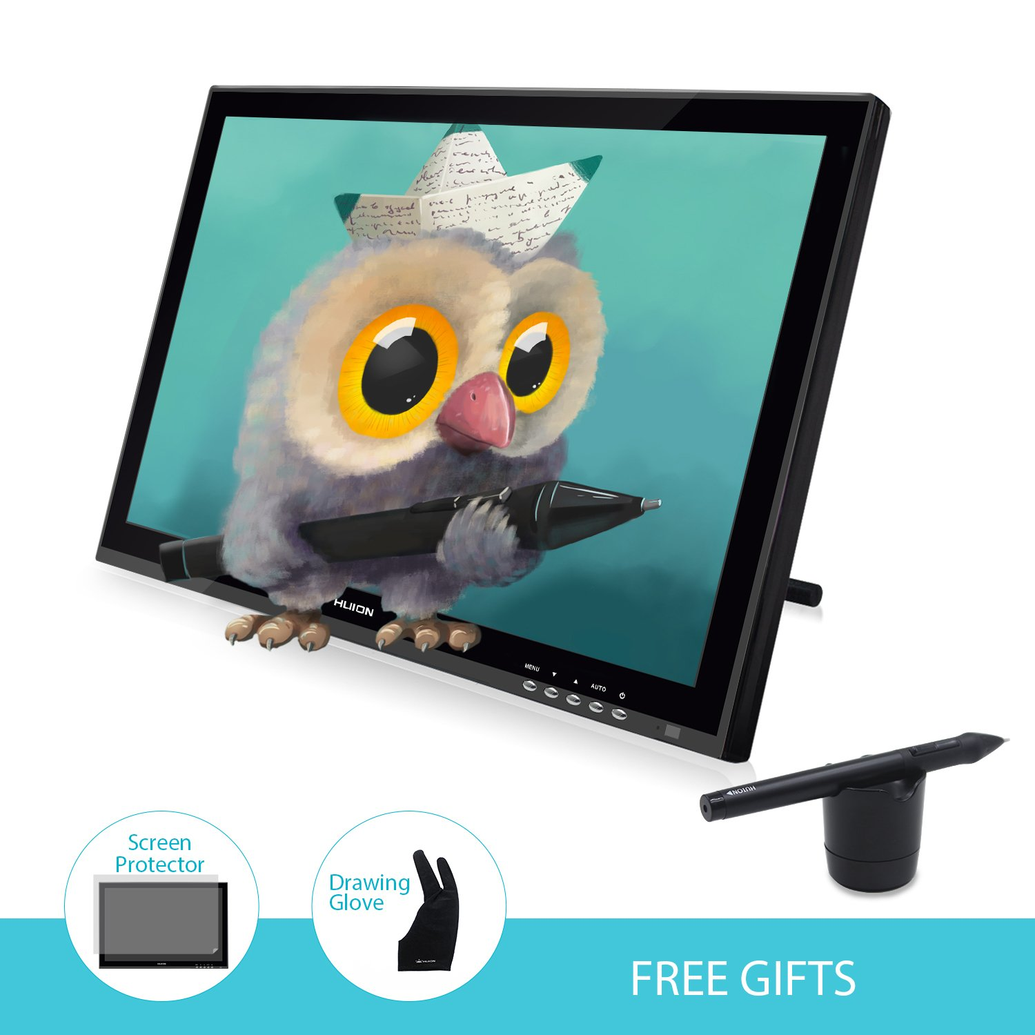 Huion Pen Display for Professionals Graphics Monitor - GT-190S w/ Glove