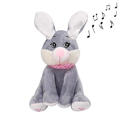AOLVO Animal de Peluche Cantando, Animado Interactivo Hablar y Cantando Perro Conejo Pig Juguete de