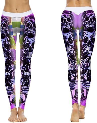 Leggings Deporte Mujer Mallas Fitness Impresión Mujer Polaina ...