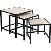 SONGMICS Lot de 3 Table d'appoint, Table Basse, Table de Chevet