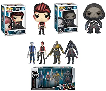 AECH /& I-R0K READY PLAYER ONE 4-PACK PARZIVAL,ART3MIS FUNKO ACTION FIGURE SET