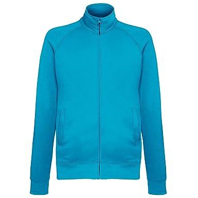 Fruit Of The Loom Mens Lightweight Full Zip Sweatshirt Jacket (S) (Azure  Blue