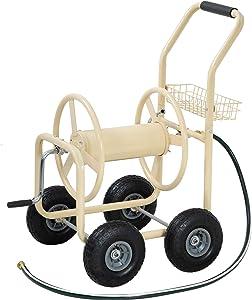 FDW Garden Hose Reel Cart with Wheels Reel Cart Tools Outdoor Yard Water Planting Truck
